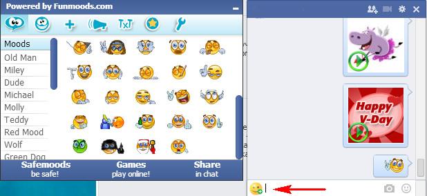 fb6 - Смайлики и стикеры для Facebook