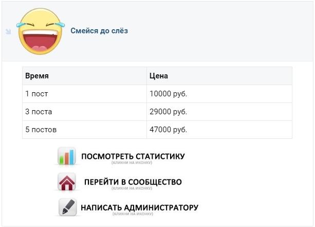 Skolko stoit reklamnyj post - Самые большие паблики в ВК