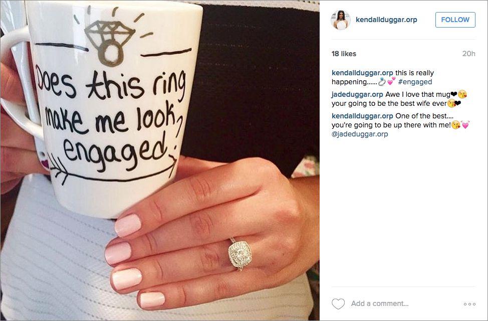Новость о помолвке в Инстаграм