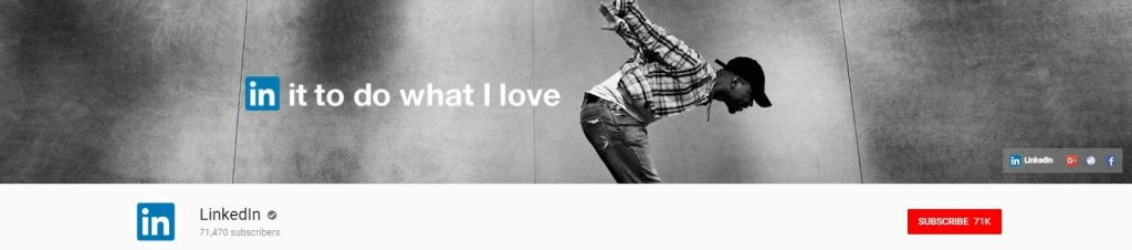 шапка ютуб канала LinkedIn