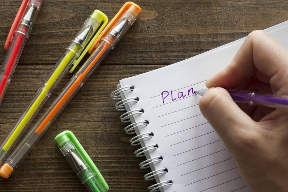 План текста