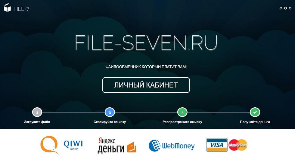 file seven - Заработок на файлообменниках