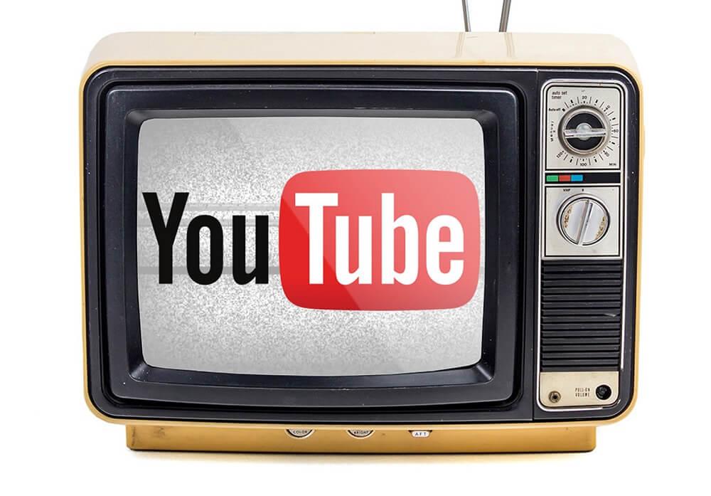 Надпись ютуб на телевизоре
